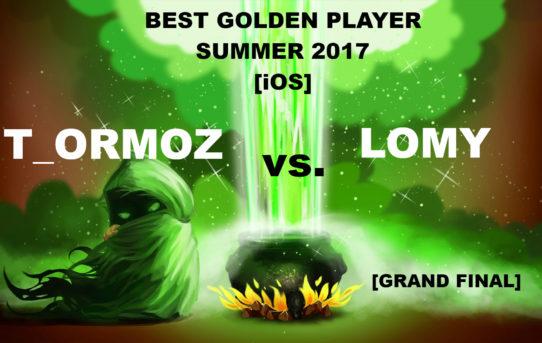 Best Golden Player Summer 2017 [iOS] Tournament results!